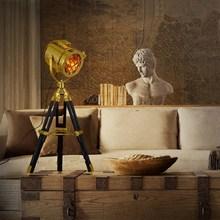 Lámpara de mesa Industrial Vintage de hierro para dormitorio en estilo campestre americano
