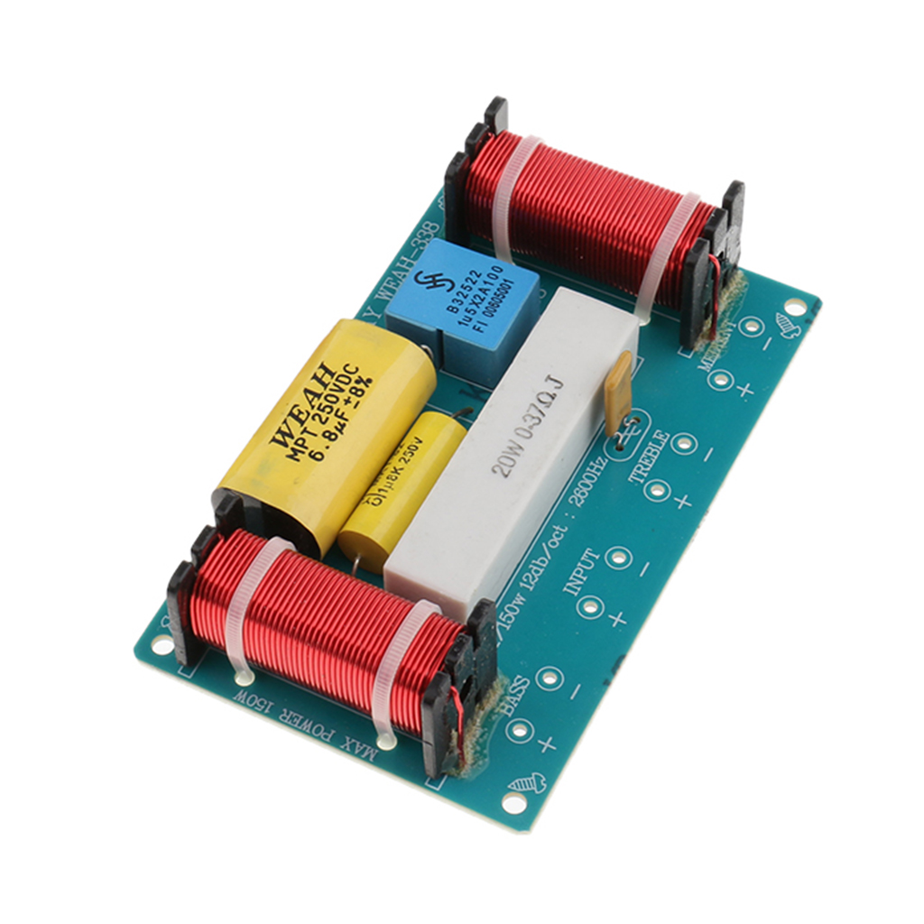 1P 3 Way Audio Filter Bass Speaker Crossover  Frequency Divider Reasonable Design High-quality Electronic Components