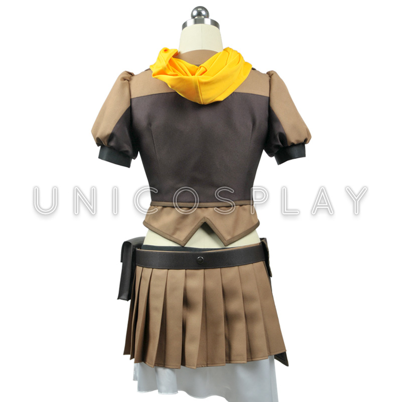 RWBY Yang Xiao Long Cosplay Dress Sciarpa Gialla + Superiore Del Tubo + Coat + Shorts + Belt + Vita Bag + Guanti + Calze + Mollettiera Girl Party Dress - 3
