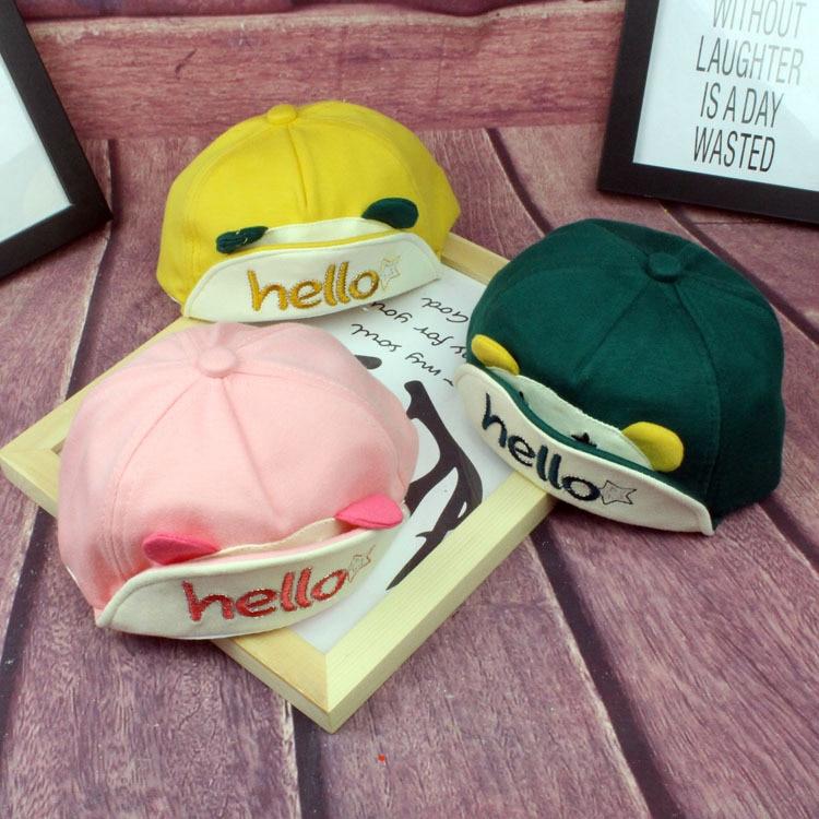 Boys' Baby Clothing Hats & Caps Infant Baby Hat Cartoon Animal Kids Baseball Cap Palm Cute Baby Boy Girl Beanies Soft Cotton Caps Visors Sun Hat