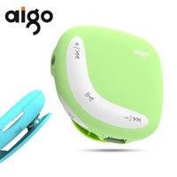 Aigo Mini MP3 Çalar Macaroon Mikro Ile Çift Renk Geri Klip TF/SD Kart Yuvası spor MP3 Müzik Çalar + USB veri hattı