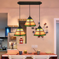Европейский Средиземноморский Тиффани подвесной светильник Витражная Лампа для спальни E27 110-240 В