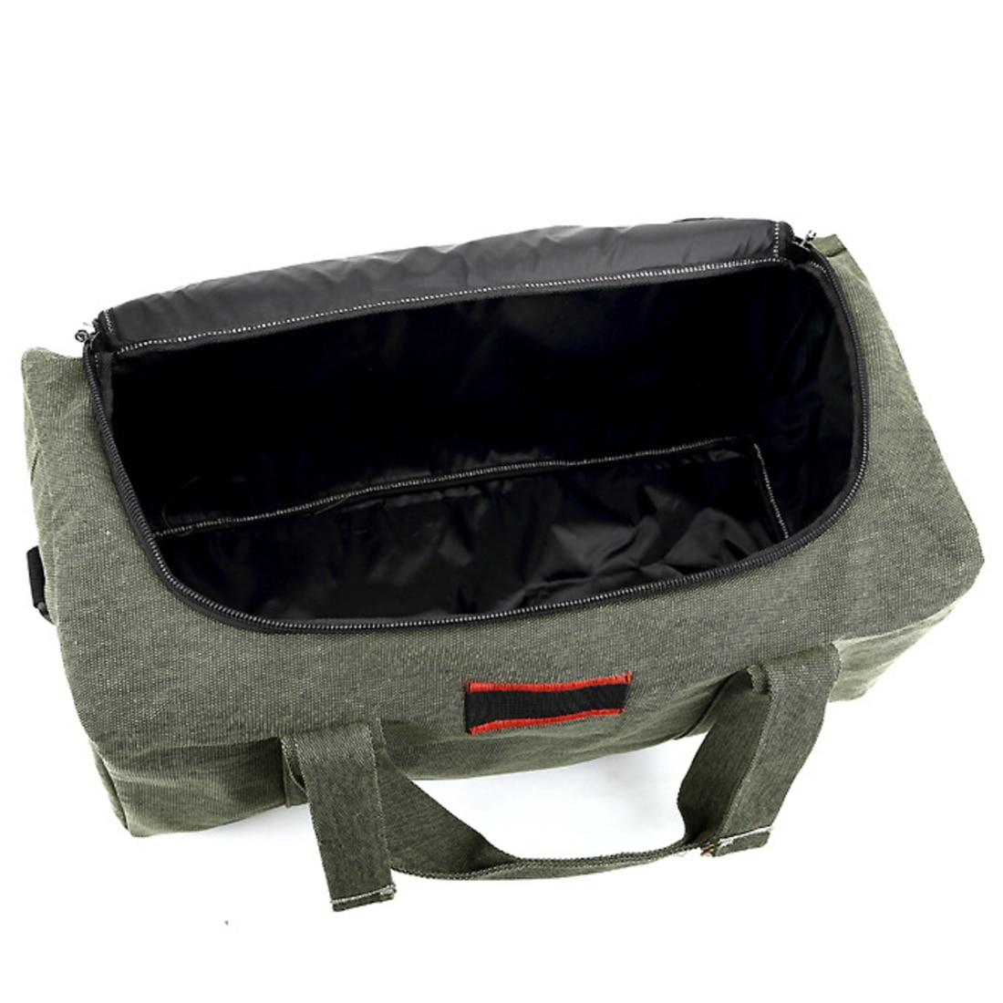 HIPSTEEN Large Capacity Canvas Men's Women Travel Bags Cross-body Bag Handbag Luggage Bag Men Travel Bags - Size S / L Hot Sale 9