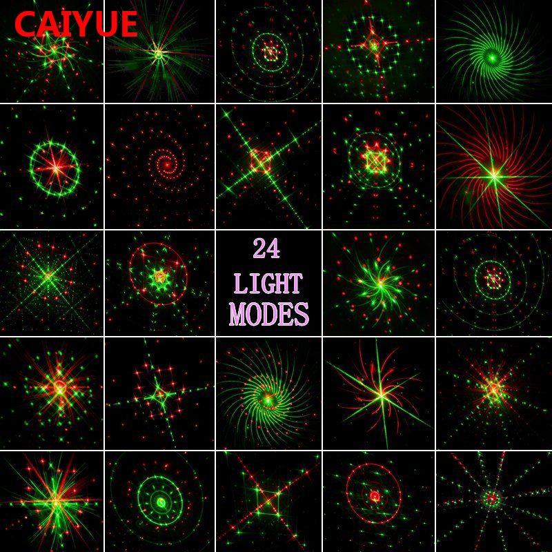 24 렌더링 레이저 빛 야외 방수 IP65 RF 제어 레드 그린 크리스마스 레이저 프로젝터 램프 바 DJ 파티 무대 조명