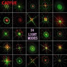 24 renderingi światło laserowe na zewnątrz wodoodporny IP65 sterowanie radiowe, czerwony, zielony, projektor laserowy na boże narodzenie podłużna lampa impreza z dj em światła sceniczne