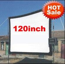 120 дюйма 16:9 без рамки может быть раз Портативный полотно ткани проекционный экран для HD LED X7 BT96 UC46 UC80 проектор проектор