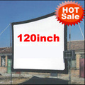 Cheaper 120inch 16:9 Without frame can be fold Portable canvas fabric screen for HD led LCD UC30 UC40 UC80 ATCO Projector Beamer