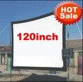 Más barato 120 pulgadas 16:9 Sin marco puede ser doblez Portable tela de lona pantalla de HD LCD llevó UC30 UC40 UC80 Proyector Proyector ATCO