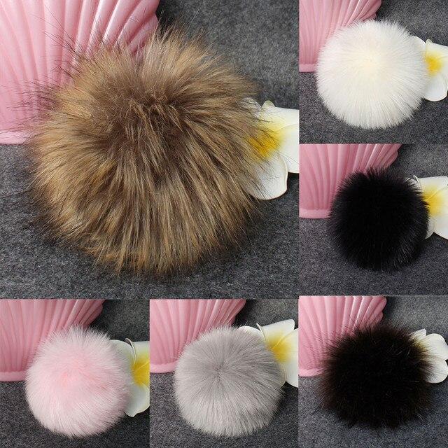 Novedad 2018 mejor venta DIY Faux Fox Fur mullido pompón bola para tejer sombreros para mujeres chapeu femenino envío gratis @ 20