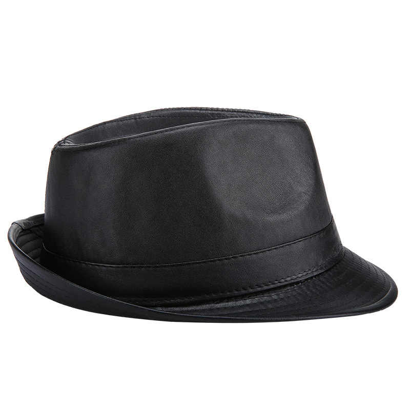 Detail Feedback Questions about Classic Men PU Leather Jazz Fedora ... 02bade59d84