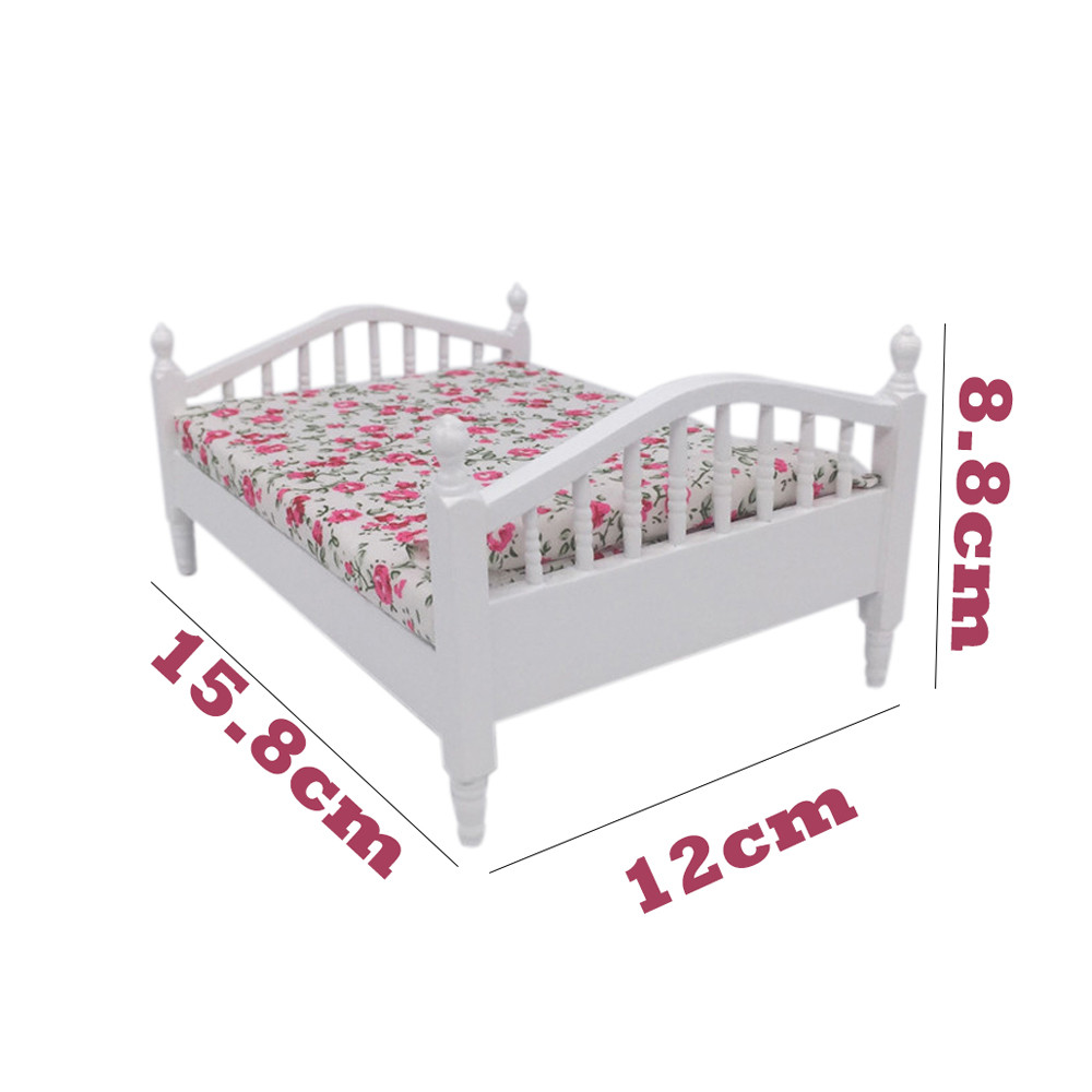 Furniture Toys Doll Accessory 1:12 Mini Dollhouse Furniture Bed Set Miniature Living Room Kids Pretend Play Toy A513