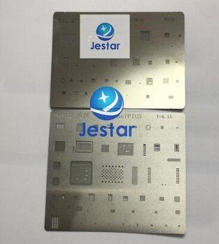 2pcs/lot BGA reballing reball template stencil for iphone  7 7plus ic chips
