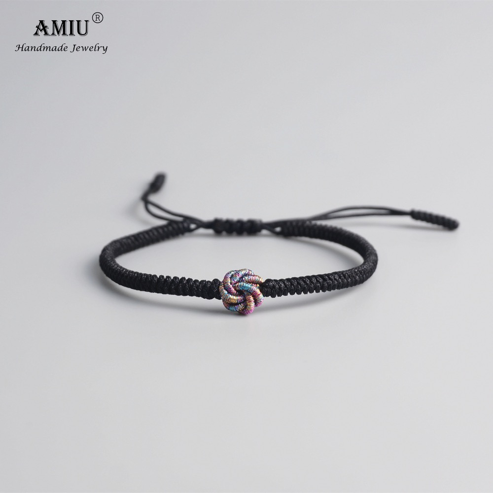 AMIU Mandalas Tibetan Buddhist Amulet Tibetan Bracelets & Bangles For Women Men Handmade Knots Red Rope Lucky Gift Bracelet