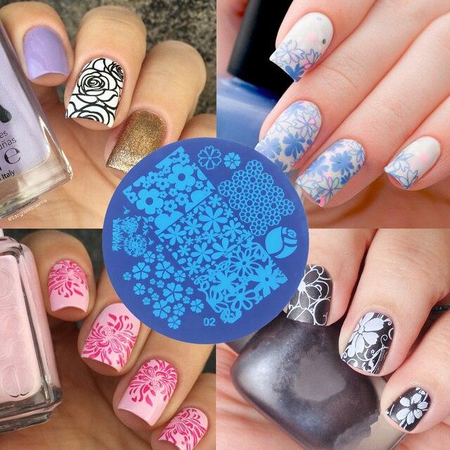 10ps Nail Plates Set Nails Art Image Stampr Stamping Transfer ...