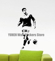Cristiano Ronaldo Wall Vinyl Texture CR7 Fitness Sports Football FC Boy Sticker Poster Teen Child Nursery