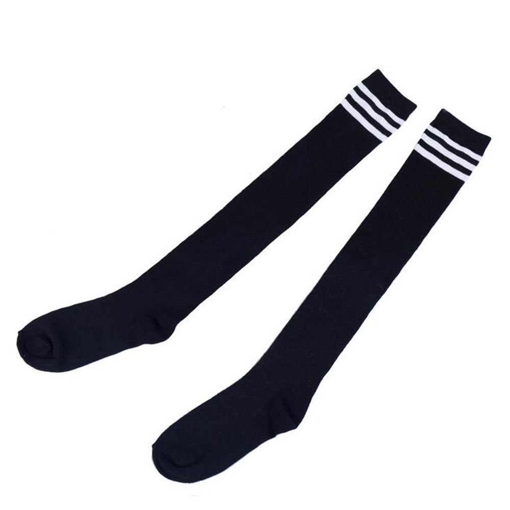 FREE OSTRICH Black Women Fashion Long Socks Over Knee High Temptation Stretch Velvet Socks Long Socks Women Striped Socks 2019