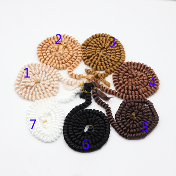 Pelucas rizadas finas de 100 cm, color blanco, marrón, negro y Natural para pelucas trenzadas para BJD 1/3 1/6 1/4, peluca de muñecas ep002