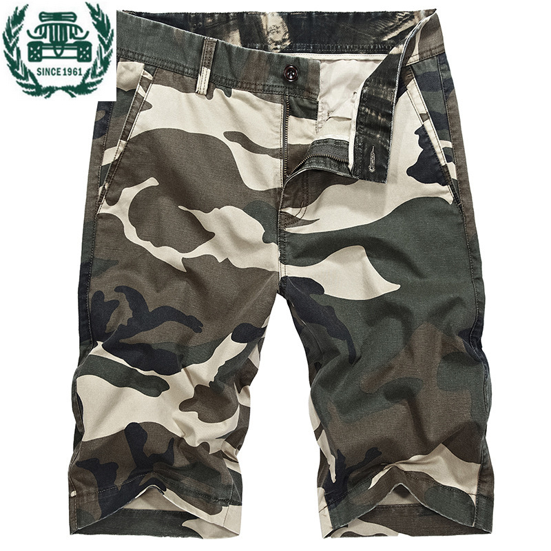 ZHAN DI JI PU  Brand Clothing Camouflage Summer Cotton Casual Shorts Men 58