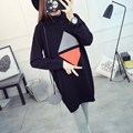 Maternity Clothes New Autumn Winter Fashion Plus Size Loose Geometric Sweater Women Clothes for Pregnant Pregnancy Sweaters