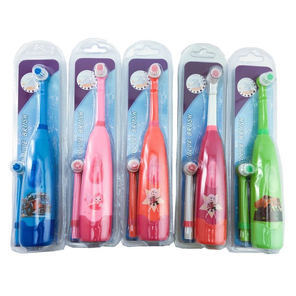 Elektryczne szczoteczki do zębów dla dzieci Cartoon wzór dwustronna szczotka do zębów elekryczna szczoteczka do zębów dla dzieci z 2 sztuk wymiana głowicy w Elektryczne szczoteczki do zębów od AGD na