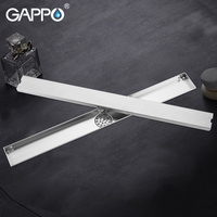 GAPPO Drains stainless steel bathroom shower floor cover drainers bath Floor Drains anti odor Square shower room