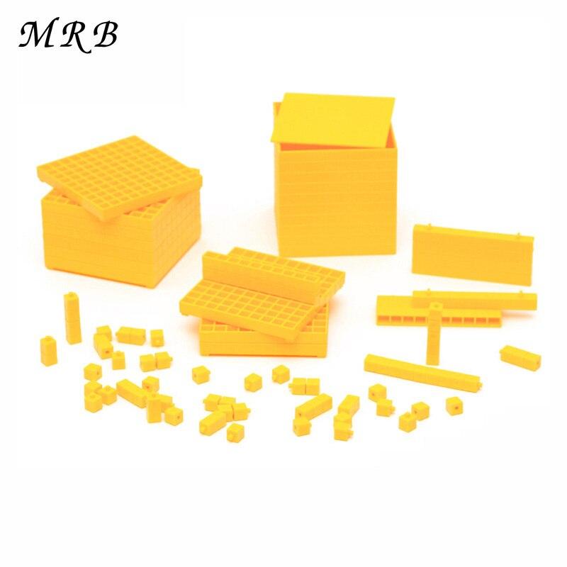Enfants jouets Montessori maths jouets matériel décimal groupe apprentissage éducatif nombre comptage opération école enseignement