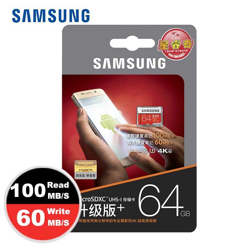 SAMSUNG Micro SD Cartão De Memória de 32 gb 64 gb Class10 SDHC UHS-I Trans cartao de Memoria Micro sd Tarjeta SD TF Cartão Para celular telefone