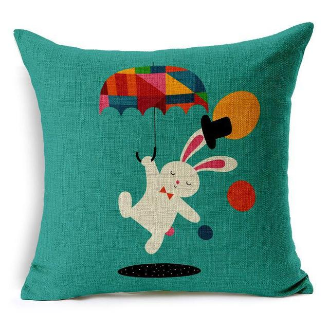 Zebra pillow case, creative cartoon animal owl lion rabbit Unicorn fox tiger throw pillow case pillow cover wholesale
