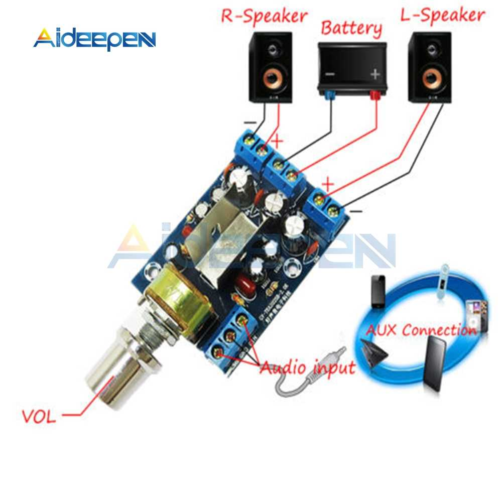 TEA2025B 2.0 Stereo Dual Channel Mini Audio Amplifier Papan untuk PC Speaker 3W + 3W 5V 9V 12V Mobil