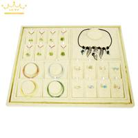 Newest 40*50CM High grade Linen Necklace Display Tray Jewelry Stand Organizer Show Case Ring Pendant Organizer Showcases