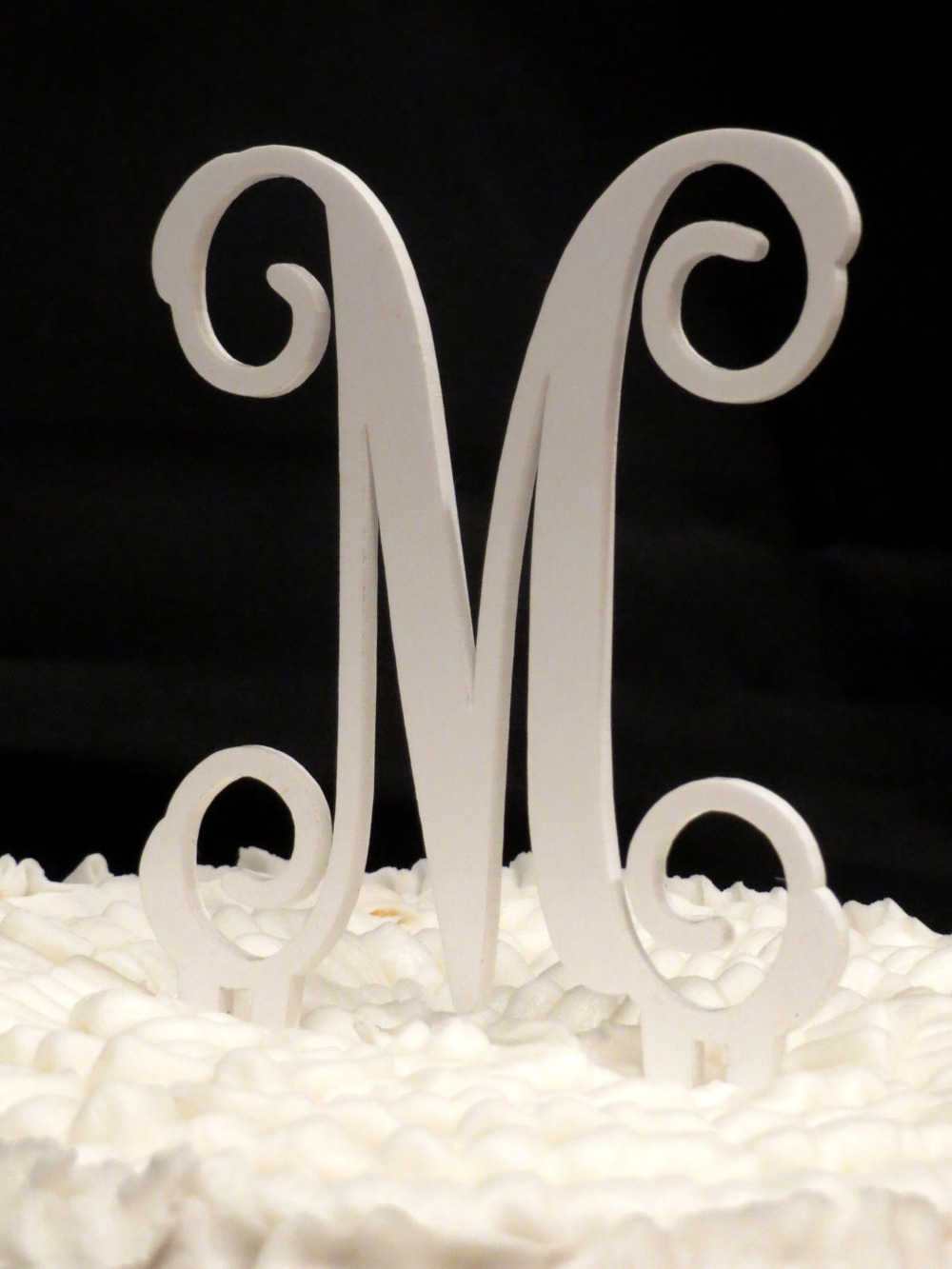 wedding cake toppers monogram letters 12 quot glitter quot 1 quot cake topper acrylic monogram letters 26544