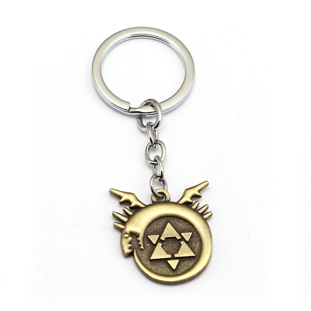 Fullmetal Alchemist Keychain Edward Homunculus Logo Anime Key Ring Holder Men Car Women Bag Key Chain Pendant Chaveiro Jewelry