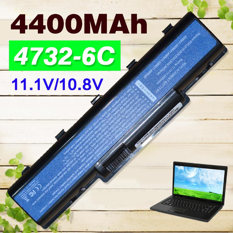 4400mAh laptop battery for Acer Aspire 5732 4732Z 5516 5517 AS09A31 AS09A41 AS09A51 AS09A61 AS09A71 AS09A75 Emachine D525 D725
