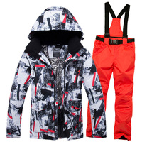 2019 New Winter Ski Suit Men Snow Skiing Male Clothes Set Outdoor Thermal Waterproof Windproof Snowboard Jackets and Pants