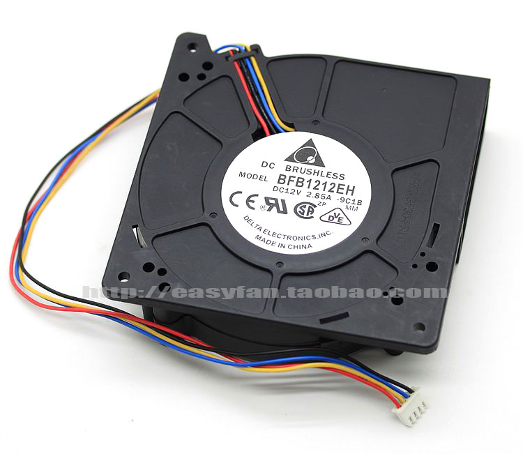 где купить Delta BFB1212EH -9C1B DC 12V 2.85A 4-wire 4-pin connector 120x120x32mm Server Blower fan по лучшей цене