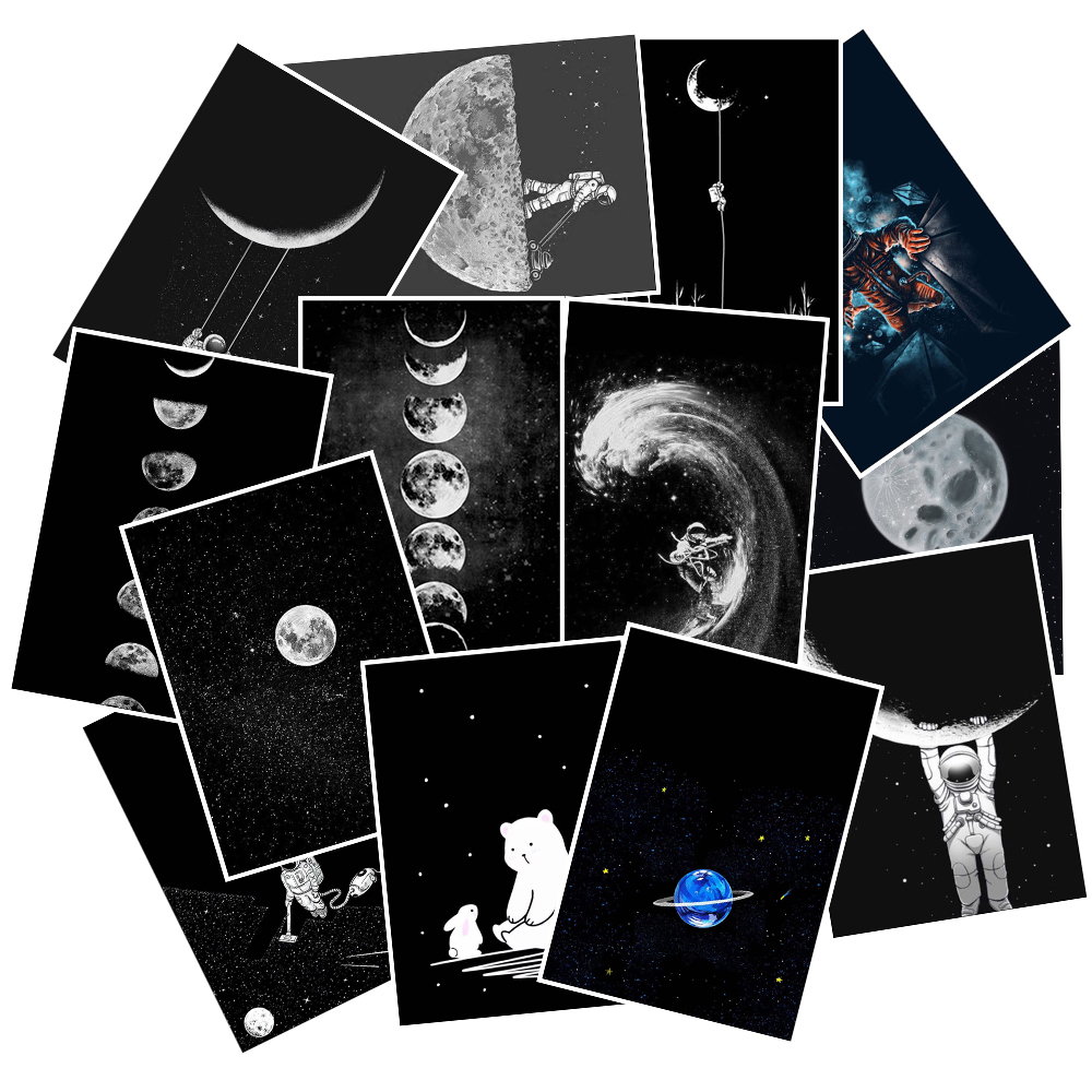 25Pcs/Lot Space Astronaut Starry Sky PVC Stickers