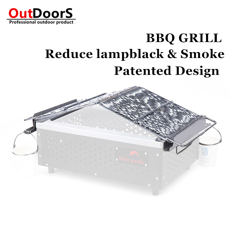 ФОТО Smokeless barbecue grill dedicated network 304 food  stainless steel grill easy to clean non-stick network thickened anti-scald