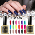 2 Pcs UV LED Gel Nail Polish Set Soak Off Manicure Gel Lacquer for Nail Art / Pick any 2 Colors