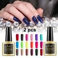 2 Pcs UV LED Gel Nail Polish Set Soak Off Manicure Gel Lacquer for Nail Art / Pick any 2 Colors