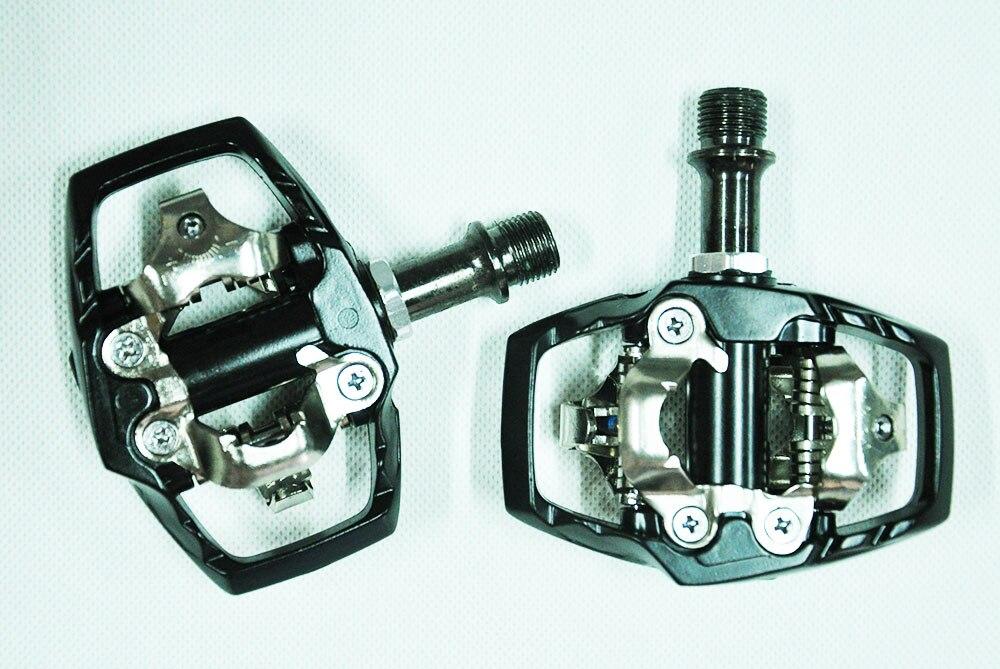 Original SYUN-LP M530 poids en alliage d'aluminium corps crmo axe titane axe oeuf beat XT SPD clipless vtt vélo pédale