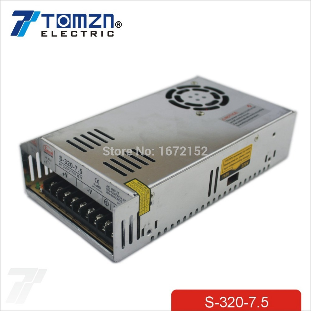 320W 7.5V 36A Single Output Switching power supply for LED Strip light AC to DC 110V 200V selected by switch allishop 300w 48v 6 25a single output ac 110v 220v to dc 48v switching power supply unit for led strip light free shipping