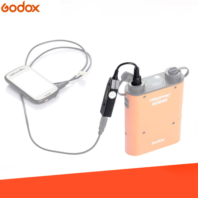 Godox PB USB PROPAC PB960 Battery Pack Power Converter Cable for Smart Cell Phone Laptop (Have Track Number)