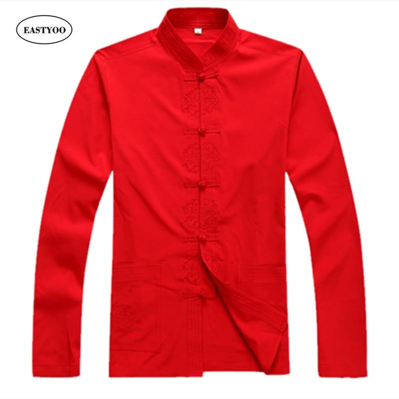 Cotton Shirt Men Long Sleeve Casual Shirts Spring 2017 Black