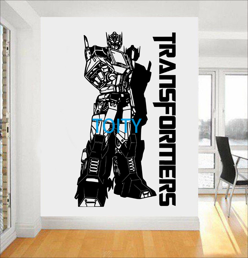 Optimus Prime Wall Decal Transformers Vinyl S G1 Autobot Movie Poster Boy  Room Decor Art Mural