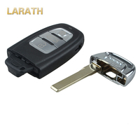 LARATH 3 버튼 새로운 스마트 원격 키 쉘 + 삽입 작은 공백 아우디 A4L A6L A5 Q5 RS5 Q5 콰트로 키