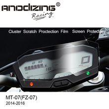 For Yamaha MT-07 FZ-07 MT07 Cluster Scratch Protection Film Screen Protector for FZ07 MT 07 2014 2015 2016 2017
