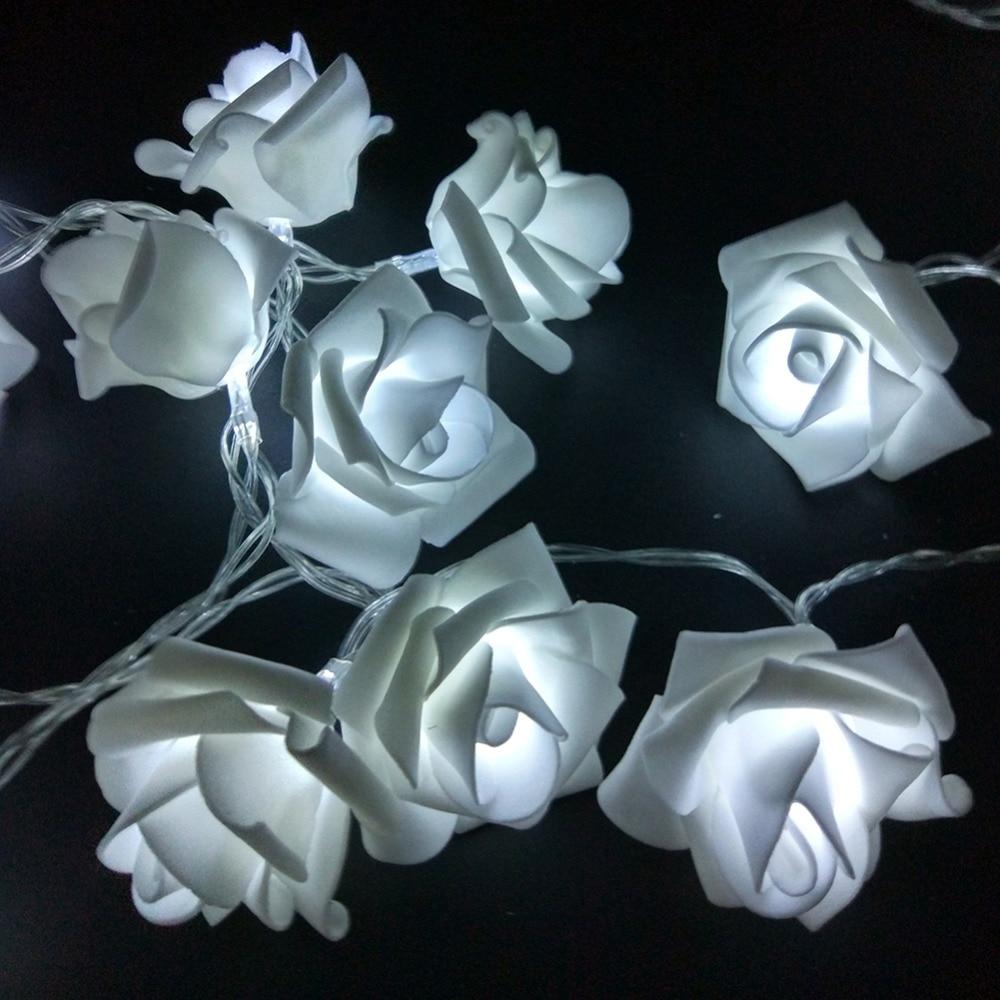 10LED Rose Flower String Strip Lights For Holiday Wedding W//Battery Case