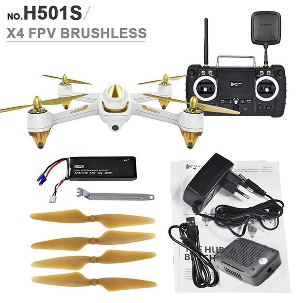 imágenes para Nuevo llega 10ch rc hubsan x4 h501s 5.8g fpv sin escobillas con 1080 p hd gps de la cámara rc quadcopter-versión avanzada