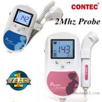 Rosa o Azul Sonoline C1 Fetal doppler/LCD Luz de Fondo, monitor de bebé del corazón, 2 mhz sonda, sin gel