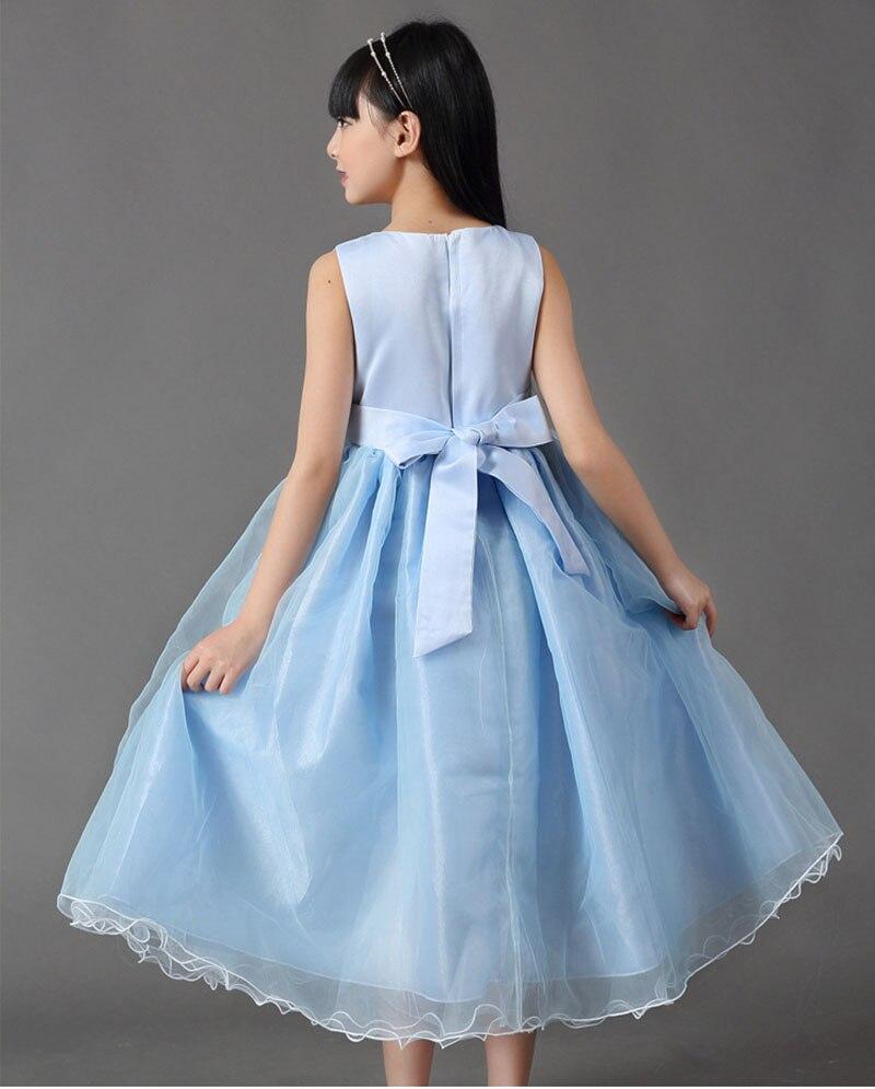Moda vestidos de bola para niños azul claro Vestidos de novia un 12 ...